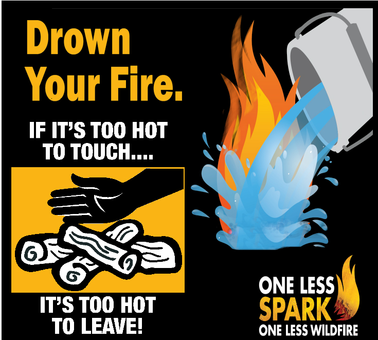 Campfire Poster - Drown, Stir, Feel - If it is too hot to touch, it is too hot to leave